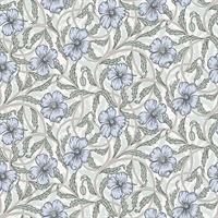 Imogen Light Blue Floral Wallpaper