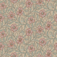 Imogen Light Brown Floral Wallpaper