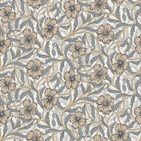 Imogen Neutral Floral Wallpaper