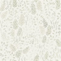 Isha Beige Leaf Wallpaper