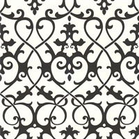 Jacques Black Ironwork Wallpaper
