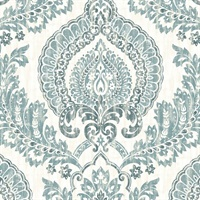 Kensington Damask, Peel and Stick
