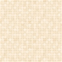 Khaki Textured Tiles Wallpaper