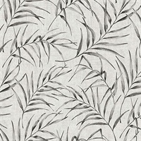 Lani Grey Fronds Wallpaper