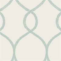 Laurel Leaf Ogee Wallpaper
