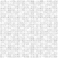 Light Silver Textured Tiles Wallpaper