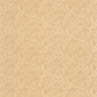Lilian Beige Scroll Wallpaper