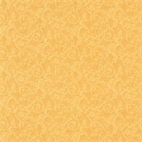 Lilian Mustard Scroll Wallpaper