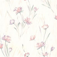 Lilly Pink Floral Texture Wallpaper
