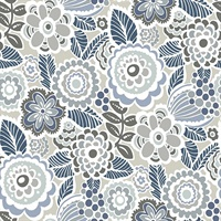 Lucy Grey Floral Wallpaper