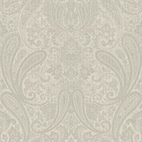 Ludlow Light Grey Paisley Wallpaper