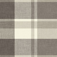 Madaket Charcoal Plaid Wallpaper
