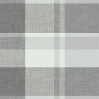 Madaket Dark Grey Plaid Wallpaper