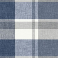 Madaket Indigo Plaid Wallpaper