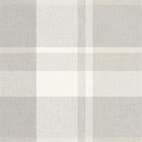 Madaket Light Grey Plaid Wallpaper
