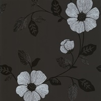 Maddison Black French Floral Wallpaper