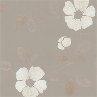 Maddison Pewter French Floral Wallpaper