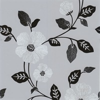 Maddison Silver French Floral Wallpaper