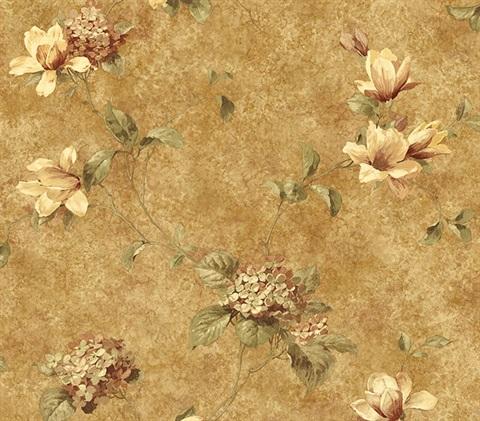 Brewster Wallcovering  Red Lily Flower Wallpaper Border #1