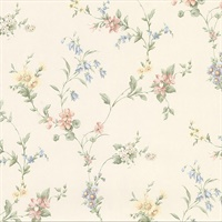 Marcus Multicolor Floral Trail Wallpaper