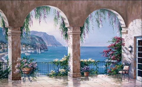 Tuscan Wallpaper Mural C834