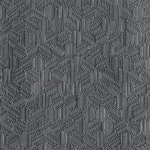 Cod0215n Black Gold Metallica Honeycomb Geometric Wallpaper Wallpaperupdate Com