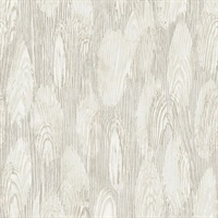 Monolith Silver Abstract Wood Wallpaper
