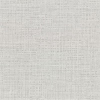 Montgomery Light Grey Faux Grasscloth Wallpaper