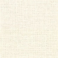 Montgomery Off-White Distressed Faux Linen Wallpaper