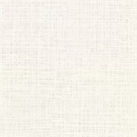 Montgomery White Faux Grasscloth Wallpaper
