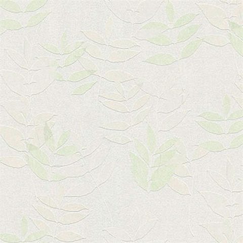 Napali Light Green Leaf Wallpaper