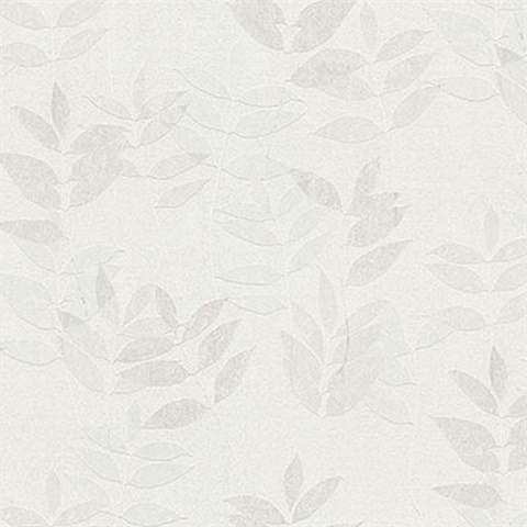 Napali Off-White Leaf Wallpaper