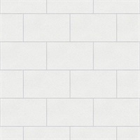 Neale White Subway Tile Wallpaper