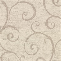 Newbury Taupe Geometric Faux Plaster Wallpaper