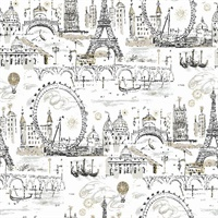 Novelty Euro Scenic Wallpaper