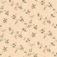 Olivia Beige Floral Trail Wallpaper