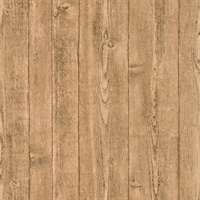 Orchard Taupe Wood Panel Wallpaper