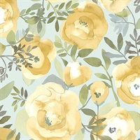 Orla Yellow Floral Wallpaper