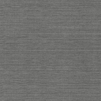 Oscar Charcoal Faux Fabric Wallpaper