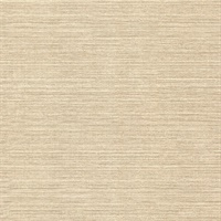 Oscar Beige Faux Fabric Wallpaper