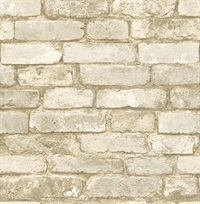 Oxford White Brick Texture Wallpaper