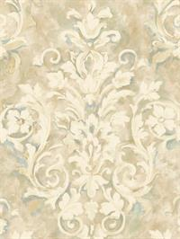 Painterly Damask