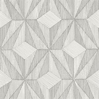 Paragon Silver Geometric Wallpaper