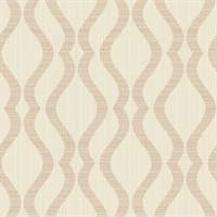 Pascale Gold Medallion Wallpaper