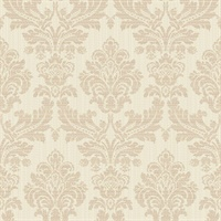Pascale Light Grey Medallion Wallpaper