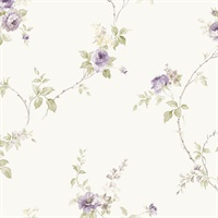 In-Reg White Wedding Trail Wallpaper