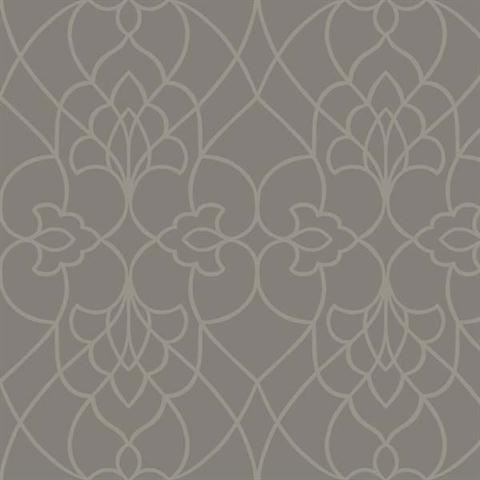 Dn3742 Grey Pirouette Textured Contemporary Wallpaper
