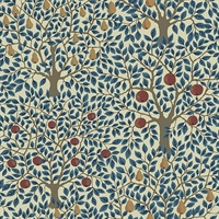Pomona Blue Fruit Tree Wallpaper
