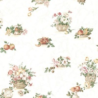 Puck Light Pink Fruit Basket Wallpaper