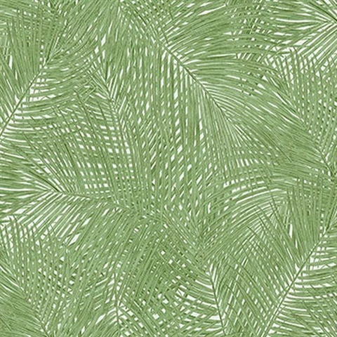 Raina Green Fronds Wallpaper